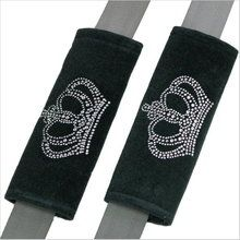 Rhinestone Princess Crown Seat Belt Pads