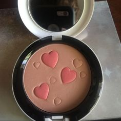 SALE 🎈 👭Mac ARCHIES GIRLS FACE POWDER👭 This face powder is in FLATTER ME it was been swatched couple of times the most you can see the usage in the pic for additional pic or any Q? LMK MAC Cosmetics Makeup Face Powder