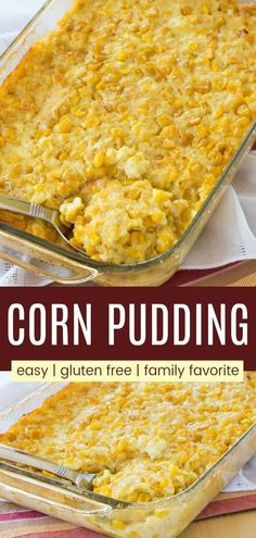 Corn Pudding (Easy Side Dish Recipe) - Cupcakes & Kale Chips