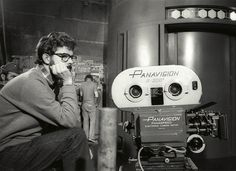 A Very Young George Lucas and his Panavision