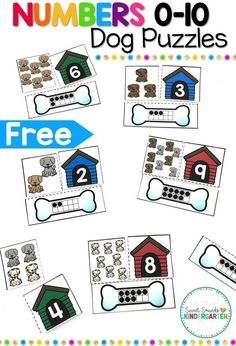 number puzzles are perfect to use for back to school. The puzzles focus on numbers and are a great way for students to work on number sense with counting, number recognition, number order, and even sorting! Teaching Numbers, Numbers Kindergarten, Numbers Preschool, Kindergarten Centers, Math Numbers, Teaching Math, Preschool Activities, Kindergarten Freebies, Decomposing Numbers