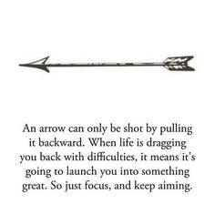 & this is exactly why I'm getting a arrow tattooed on me!