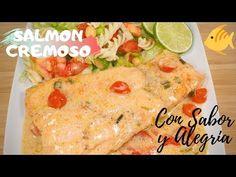SALMON CREMOSO | COMO HACER SALMON EN SALSA CREMOSA | SALMON TUSCANO 😍😉 - YouTube Salmon En Salsa, Best Spanish Food, Tapas Recipes, Dips, Snacks, Chicken, Meat, Ethnic Recipes, Youtube