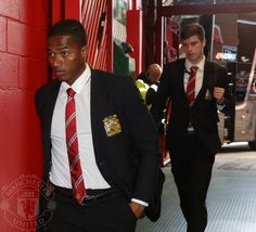 Valencia and McNair arrive at Old Trafford. 4.4.2015