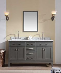"Danny 60"" Bathroom Vanity Maple Grey"