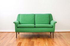 mid century sofa loveseat couch by littlecows