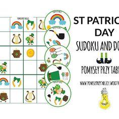 St Patrick's Day Sudoku and Dobble by #pomyslyprzytablicy  #stpatricksday #sudoku #dobble #cardgame #printable #nowy #wpis #blog #esl #eslteachers #teachingkids #teachersofinstagram #edukacja #school #szkola #education