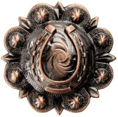 Antique Old Copper Horsehoe Berry Conchos set by TheLeatherGuyMN, $6.00