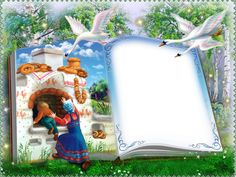 Transparent Kids Fairy Tale World Book Clip Art, Art Carte, Fairy Tales For Kids, Photo Layers, Cute Frames, Png Photo, Frame Template, Borders And Frames, Scrapbooking