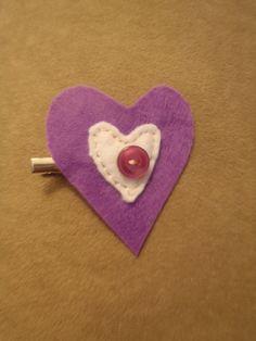 Handmade Felt Heart Clip by RaedianceByJo on Etsy, $4.00