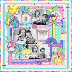 Used the following from the Sweet Shoppe Templates: Trio Pack 37: Magical Birthday Girl by Cindy Schneider Believe in Magic: Magical Birthday Girl by Studio Flergs and Amber Shaw