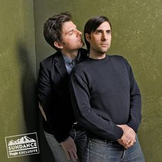 The Stars You Need to See at the Sundance Film Festival | WHO NOSE? | Smells like ... Teen Spirit? The Overnight costars Adam Scott and Jason Schwartzman are almost too close for comfort on Friday as they kick back in the PEOPLE and Getty photo booth at day two of the annual Sundance Film Festival in Park City, Utah.