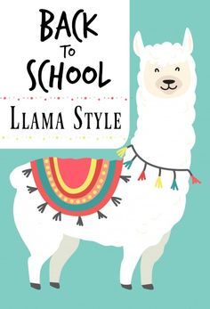 Head back to school llama style. Get ready for back to school llama style with this list of llama school supplies. Head back to school in style this year with fun accessories.