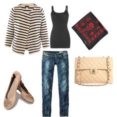 Neutral casual mixed patterns
