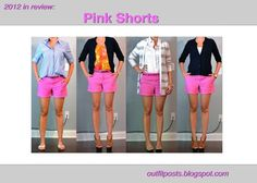how to wear hot pink shorts 4 ways #styling