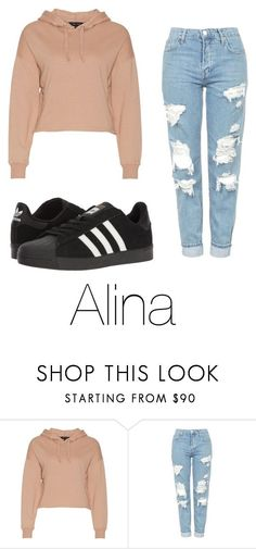 """""""Untitled #85"""" by halissiaelviracra on Polyvore featuring Topshop and adidas"""