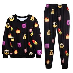 EMOJI SWEATER SET Whether you feel like going for a run, a brisk walk or simply just having a lazy day, our Emoji Sweater Set is for you.  10 different styles available.