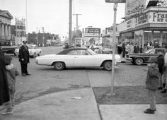 Detroit and Mars Avenue looking east along the south side of Detroit Ave. from the Mars Ave. intersection, 1967. Lakewood Ohio, Elm Tree, Car Photos, Cleveland, Mars, Detroit, Childhood, Street View, United States