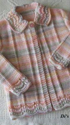 İşlemeli Bebek Yelek Yapılışı - How To Knit for Beginners 2020 Baby Knitting Patterns, Baby Cardigan Knitting Pattern Free, Knitting For Kids, Easy Knitting, Crochet Dress Girl, Crochet Baby Dress Pattern, Baby Dress Patterns, Girls Sweaters, Baby Sweaters