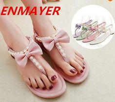 $44.12 (Buy here: https://alitems.com/g/1e8d114494ebda23ff8b16525dc3e8/?i=5&ulp=https%3A%2F%2Fwww.aliexpress.com%2Fitem%2FENMAYER-New-Arrive-Summer-Sexy-Beautiful-Flats-Flops-Women-Sandals-bow-Beading-with-female-sandals-size%2F32357969359.html ) Airfour   New Arrive Summer Sexy Beautiful Flats Flops Women Sandals bow Beading with female sandals size 34-45 for just $44.12