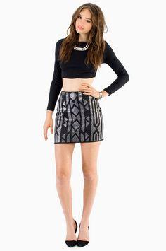 #Tobi                     #Skirt                    #Bianca #Beaded #Mini #Skirt                        Bianca Beaded Mini Skirt $30                                                  http://www.seapai.com/product.aspx?PID=1226434