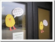 The morning of the Hatch, leave clues around the school. The kids will be so excited to come in!