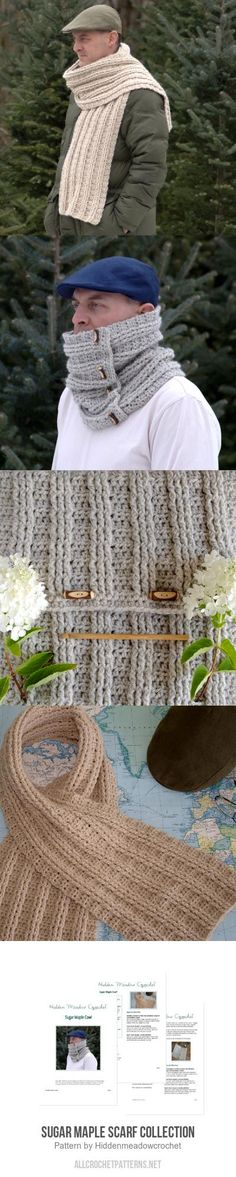 Sugar Maple Scarf Collection crochet pattern