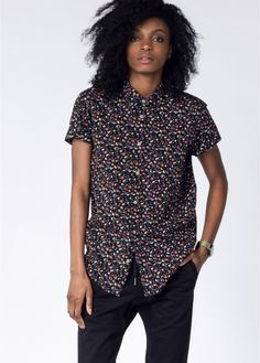 Keep it classic and cool with this button up. Premium cotton and a unique floral print give this shirt a one-of-a-kind look, while the tailoring details keep your look put together no matter where the day takes you. By RVCA via Wildfang.com