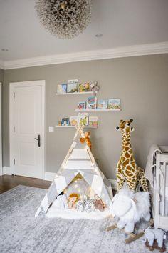 Elegant Grey Nursery for Twins – Inspired By This - Modern Teepee Nursery, Nursery Twins, Safari Nursery, Elephant Nursery, Nursery Rugs, Twin Nursery Gender Neutral, Baby Room Neutral, Neutral Nurseries, Nursery Grey