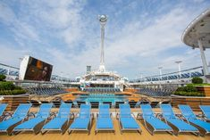 Lay out and look up. The Anthem of the Seas pool deck offers great views of the North Star in action.