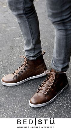 Add these handmade brown leather sneakers by BEDSTU to your footwear  collection. Brown Leather Sneakers 0e65b228b31f9