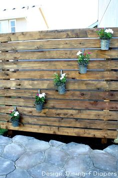 Design Dining and Diapers - Garden Slat Wall