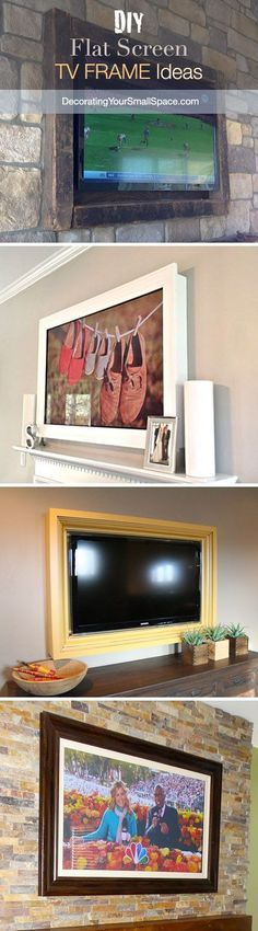 Love the white one! DIY TV Frame: Disguise that Flat Screen!                                                                                                                                                                                 More