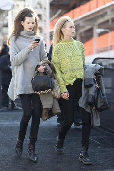 NY Street Fashion - Big Hair!