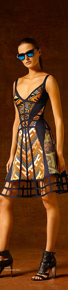 Hervé Léger by Max Azria ~Latest African Fashion, African Prints, African fashion styles, African clothing, Nigerian style, Ghanaian fashion, African women dresses, African Bags, African shoes, Kitenge, Gele, Nigerian fashion, Ankara, Aso okè, Kenté, brocade. ~DKK