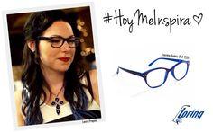 Gafas bicolores de mujer. Inspiración: Laura Prepon.