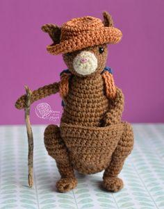 Kangaroo crochet pattern, Amigurumi kangaroo pattern, Little crochet kangaroo
