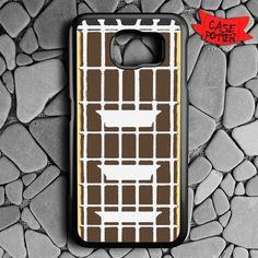 Guitar Vector Samsung Galaxy S6 Black Case