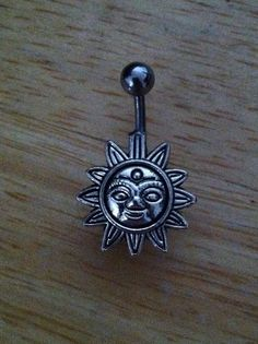 Belly button ring Body Jewelry Sun belly ring by ChelseaJewels