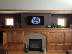 TV installation above fireplace