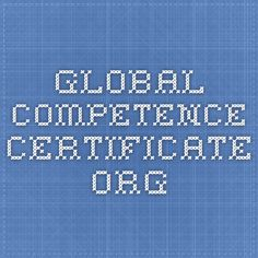 Global Competence Certificate.org