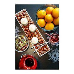 IKEA - IDEAL, Plat pour bougies, Pastilles en plastique  souple : améliorent la stabilité du bougeoir et protègent le support.