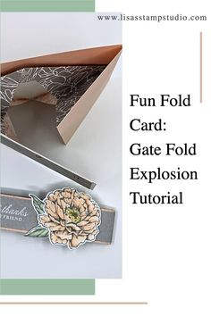I love teaching fun fold card ideas. They are some of the most popular in the card making world. It may look hard but I promise it's not; just follow along with the video tutorial and pause where you need to and you can make this right along side of me. Check it out at www.lisasstampstudio.com #cardmakingtutorials #cardvideos #funfoldcardtutorials #fancyfoldcardtemplate #creativecardideas #lisacurcio #lisasstampstudio #stampinupcards