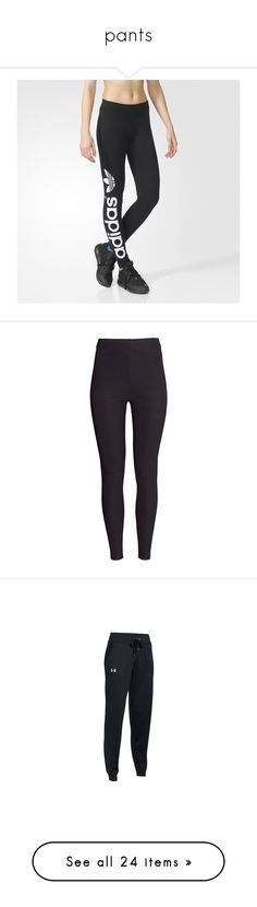 """""""pants"""" by jciegarrett16 ❤ liked on Polyvore featuring activewear, activewear pants, pants, black, adidas sportswear, adidas activewear, track pants, adidas, leggings and bottoms"""