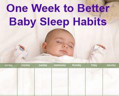 A 7-night program to improving your baby's sleep habits