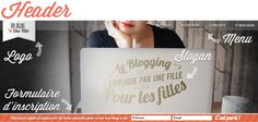 Header Un blog une fille Design Blog, Web Design, Slogan, Cover, Books, Theme Ideas, Daughter, Design Web, Libros