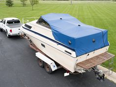 Trailerable boat cover installed and ready to hit the road!