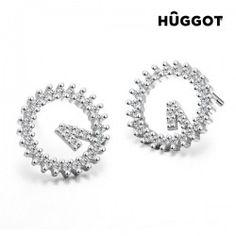 Boucles d'oreilles en Argent Massif 925 et Zirconites Winner Hûggot