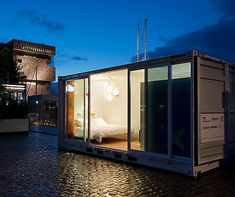 A luxury hotel room in a 20-foot container http://www.aluxurytravelblog.com/2013/06/03/a-luxury-hotel-room-in-a-20-foot-container/