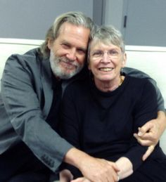 What a dynamic duo—it's 'The Giver' author Lois Lowry and 'The Giver' movie star Jeff Bridges!